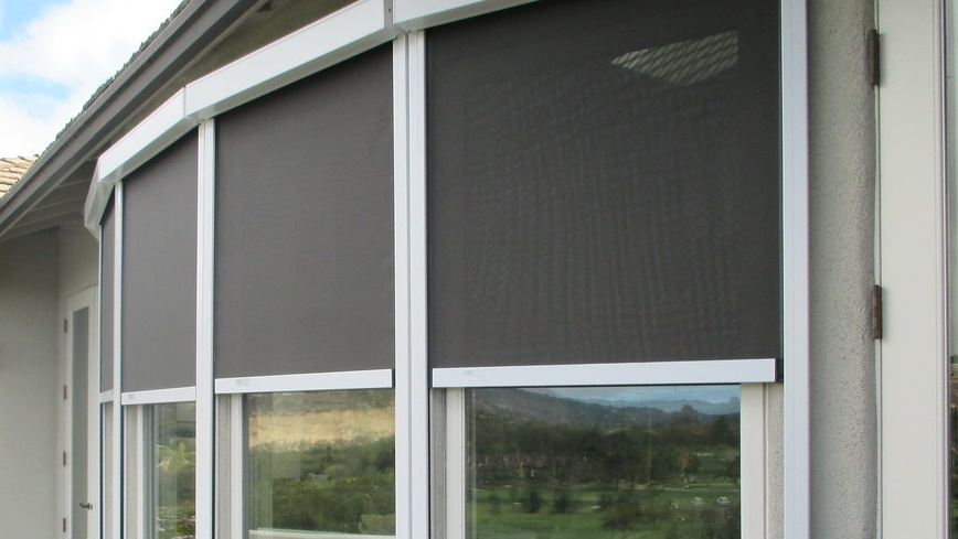 retractable screens to stay protected from insects.
